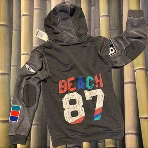 BUTTER Super Soft Graphic+Patch Hoodie Boys 18 NWT